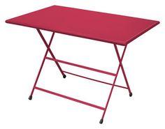 Arc en Ciel Foldable table - 110 x 70 cm - Foldable Red by Emu