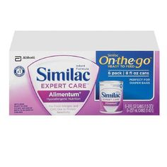 Similac Expert Care Alimentum Ready to Feed, 8 fl oz cans 6 ea (Pack of 2)