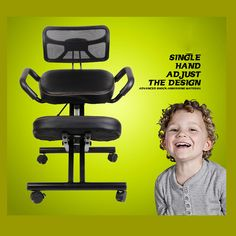 AIR PUMP ADJUSTABLE HEIGHT CORRECT SITTING POSTURE FOLDED KNEELING CHAIR WITH MESH BACK FOR OFFICE AND HOUSE