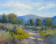 California Impressionist High Desert Landscape Original Pastel Painting  Karen Margulis