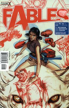 Fables Vol 1 15.jpg License Fair Use (Comic Covers) Image Type Cover Art Image Image Contents Image Universe Earth-Fables Subjects Snow White (Fables) (Images) Bigby Wolf (Fables) (Images) Image Source Source Fables #15 (September, 2003) Fables #15 (September, 2003) Image Details Cover Artists James Jean Previous Cover Next Cover Description Fables #15 cover image Notes All DC Comics characters and the distinctive likeness(es) thereof are Trademarks & Copyright © 1938-2013 DC Comics, Inc...