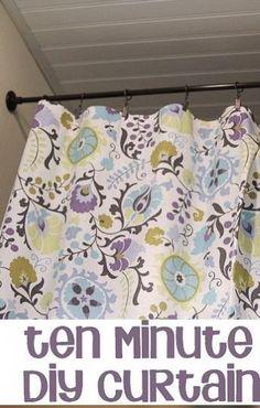 10-Minute {No Sew} DIY Curtain Tutorial!
