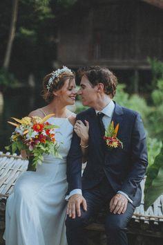 Adorable bride & groom at their Bali wedding