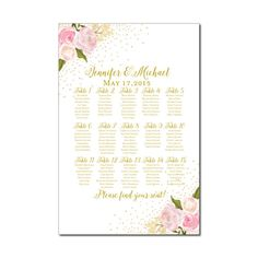 Wedding Seating Chart  Rustic Wedding  Floral by ClearyLane
