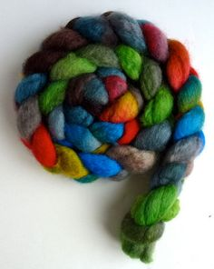 BFL Wool Roving  Hand Painted Spinning or by threewatersfarm, $18.95