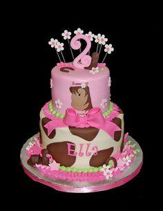 horse cake for ellas 2nd cute idea