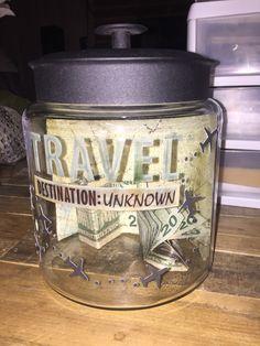 Travel fund jar! Vaca here we go... Destination stop 1: Costa Rica!!!!