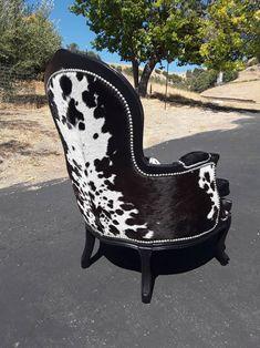 Cowhide Furniture, Cowhide Chair, Western Furniture, Funky Furniture, Upholstered Furniture, Home Decor Furniture, Rustic Furniture, Luxury Furniture, Vintage Furniture