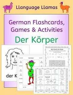 German Parts of the body - Der Krper. This pack contains resources to teach 16 German words for parts of the body, great for elementary students. The vocabulary set includes: der Kopf, der Mund, die Zhne, die Nase, die Haare, das Ohr, das Auge, der Hals, der Arm, die Hand, der Finger, der Daumen, der Bauch, der Fu, das Bein, das Knie.