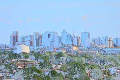 Boston Skyline by Karen Lee Gorman