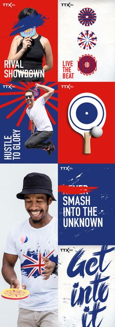 New Logo and Identity for Table Tennis X (TTX) by Brand Union