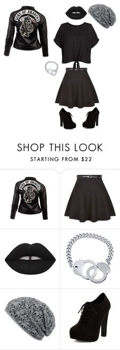 """Untitled #466"" by hellokitty-780 on Polyvore featuring SOA, New Look, Lime Crime and BERRICLE"