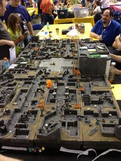 Hirst arts dungeon by Tim peasley. This photo is of the dungeon in use as a part of a warlord demo game. This dungeon is now owned by reaper miniatures.