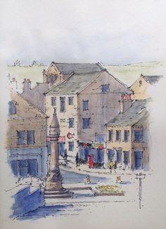 Baildon, Nr Bradford in West Yorkshire - sketch