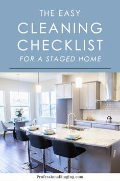 #HomeStaging #RealEstate When you're home is on the market, it's crucial that you keep it as clean and organized as possible. Follow this cleaning checklist for staged homes to always have it ready for buyers.
