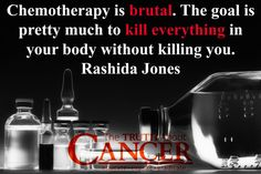 """Rashida Jones points out, """"Chemotherapy is brutal. The goal is pretty much to kill everything in your body without killing you."""" That is exactly the goal. We're here to tell you there is a much better way and to provide you with all the information you need to make an informed decision about your treatment protocol choices. Please re-pin to help us spread the truth & educate others. Together we are changing the world and saving lives everyday. <3"""
