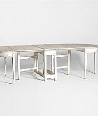 Tara Shaw Maison Swedish Formal Dining Table-antique,console,diningroom,furniture, white, shabby,pine,