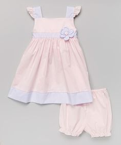 Loving this Pink & Lavender Flower Dress & Bloomers - Infant & Toddler on #zulily! #zulilyfinds