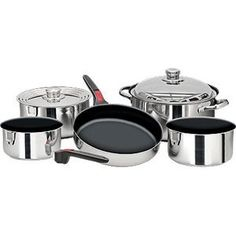 Amazon.com: Magma Nestable Non-Stick Stainless Steel Cookware (Set of 10): Sports & Outdoors