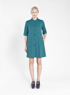 KASTE MARIMEKKO DRESS Marimekko Dress, Green And Grey, Dark Grey, Your Style, Autumn Fashion, Short Sleeve Dresses, Dresses For Work, Tunic, Stripes