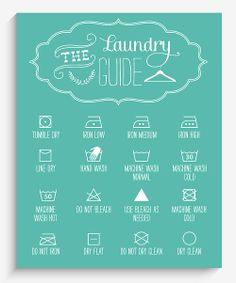 Laundry Room DIY: Blue Laundry Guide Wall Art   Daily deals for moms, babies and kids