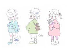 Character Design, Illustration, Kawaii Chan, Cute Art, Kawaii Drawings, Cute Kawaii Drawings, Cute Drawings, Kawaii Art, Anime Chibi
