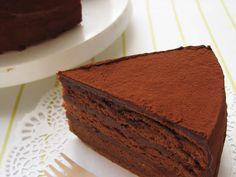 My Secret Chocolate Cake Recipe by cookpad. Sweets Recipes, Cake Recipes, Desserts, Cakes Plus, Caking It Up, Chocolate Cream, Chocolate Cakes, Decadent Chocolate, Cake Tins