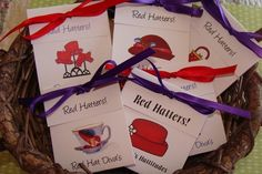 28 Red Hat Lady Ladies Tea Party Tea Bag Favors for by SuLuGifts, $37.80