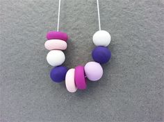 Funky Polymer Clay Necklace