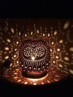 My Mr. Night Owl Gourd Lamp  is a real charmer , my best seller by far ,will add ambiance to any room , shade and base are made from 2 separate gourds ... Comes with 6' brown corn with inline rotary on / off switch .