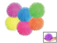 "Puffer Ball. Pon Pon Squishy Ball (12 pack) 5"". Rhode Island Novelty http://www.amazon.com/dp/B004WH60N8/ref=cm_sw_r_pi_dp_wD8Pwb1R6WXPW"