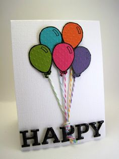 embossed balloons and glossy accents on the letters WOW!