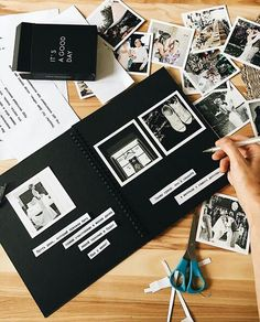 Wedding photo album as gift, create personalized photo albums, gifts for girlfriend, scrapbook album Love Scrapbook, Ideas Scrapbook, Album Photo Scrapbooking, Scrapbook Journal, Scrapbook Albums, Travel Scrapbook, Diy Album Photo, Album Diy, Photo Book