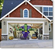 halloween garage door