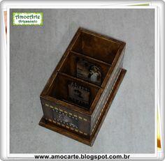 Porta controle remoto filme madeira http://amocarte.blogspot.com.br/