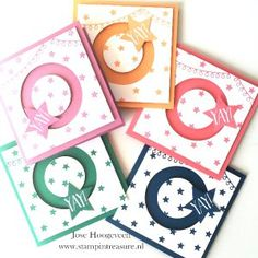 spinner kaart in colors beautiful card yay celebration #stampinup