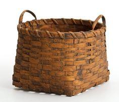 Mustard color potato basket...