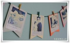Photo bunting. I did loads of this for my wedding.