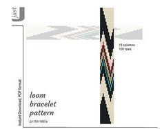 Loom patterns, peyote patterns, beading tutorials by JustJBoutique Loom Bracelet Patterns, Bead Loom Patterns, Peyote Patterns, Jewelry Patterns, Beading Patterns, Beading Projects, Beading Tutorials, Bracelets Diy, Loom Weaving