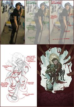 Tips on using reference photos in illustration from Claire Hummel