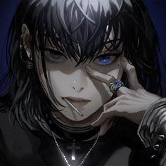 Dark Anime Girl, Cool Anime Girl, Anime Art Girl, Manga Art, Gothic Anime Girl, Pretty Art, Cute Art, Character Art, Character Design