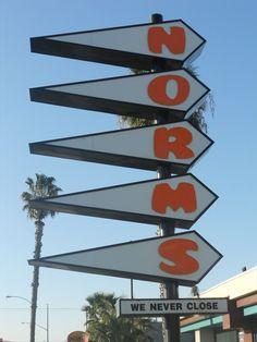 Norms Restaurant Sign, Anaheim CA