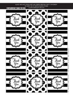 サンキュータグ : 【無料ラッピング素材】!モノトーン(ブラック&ホワイト)紙タグ テンプレート まとめ - NAVER まとめ