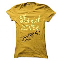 This girl loves trumpet - #gift ideas for him #college gift. ADD TO CART => https://www.sunfrog.com/LifeStyle/This-girl-loves-trumphet-Yellow-54240162-Ladies.html?68278