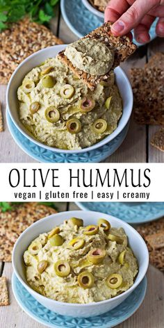 Olive Hummus Here is my new Olive Hummus recipe. Yes you heard right, olives and hummus. What sounds Olive Hummus Recipe, Vegan Hummus, Egg And Olive Recipe, Vegan Appetizers, Appetizer Recipes, Whole Food Recipes, Cooking Recipes, Cooking Food, Vegetarian Recipes