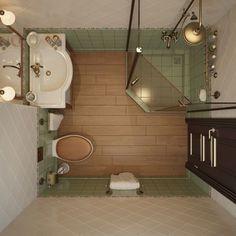 маленькая ванная комната фото 3: