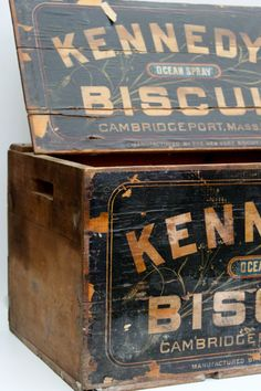 Vintage wooden crate/box by vintagewall on Etsy, $75.00