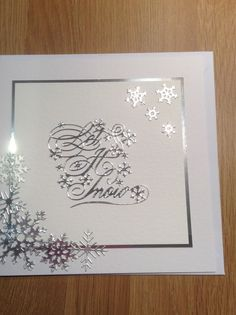 Tattered lace dies were used for this  christmas card