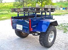 Motorcycle trailer harbor freight New Ideas Off Road Camper Trailer, Trailer Diy, Trailer Build, Camper Trailers, Off Road Utility Trailer, Log Trailer, Beach Trailer, Welding Trailer, Trailer Plans