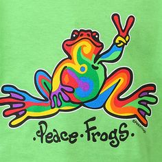 Retro Peace Frogs for tadpoles.